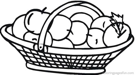 basket coloring pages 5