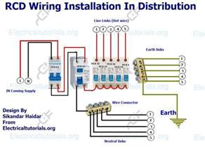 rcd wiring installation in single phase distribution board electrical tutorials