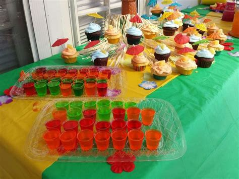birthday themed jello shots 17 best images about luau themed party on pinterest