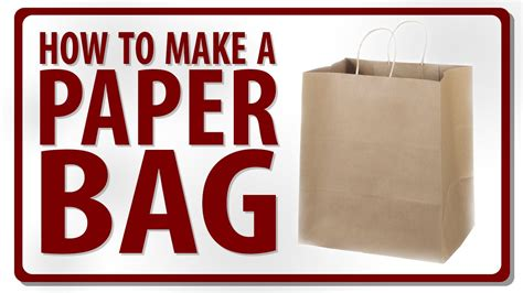 How To Make Small Bags Out Of Paper - how to make a paper bag by rohit