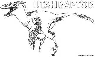 utahraptor coloring pages coloring pages to download and