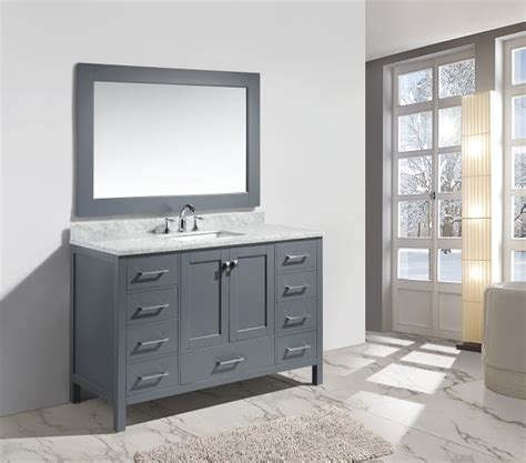 54 bathroom vanity sink abuetta 54 inch grey finish single sink contemporary