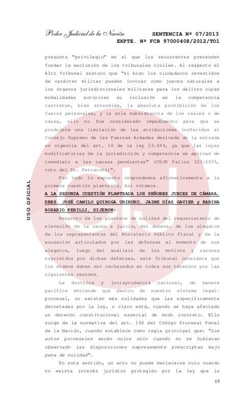 ley organica del poder judicial 2425 la rioja difunden fundamentos del fallo de la rioja