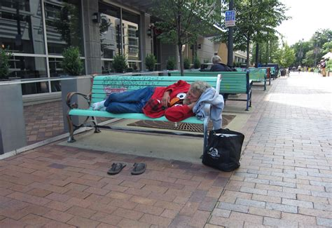 homeless bench homelessness in iowa iowa public radio