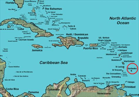 where is barbados on world map where is barbados located on the world map