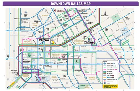texas map downtown dart org downtown dallas routing and places of interest map
