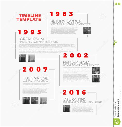 typography timeline vector infographic typography timeline report template stock vector image 75723318