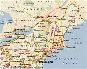 northeastern us map map of the east usa map travel