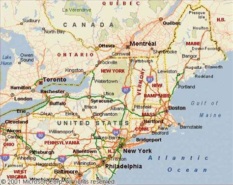 map of northeast map of the east usa holidaymapq