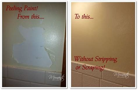 how to repair peeling paint in bathroom how to fix peeling paint without scraping hometalk