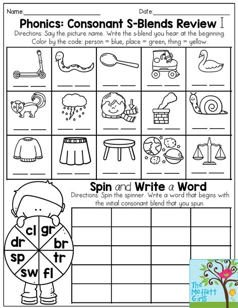 consonant blends worksheets for grade 1 homeshealth info