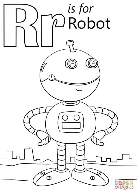 alphabet r coloring pages letter r is for robot coloring page free printable