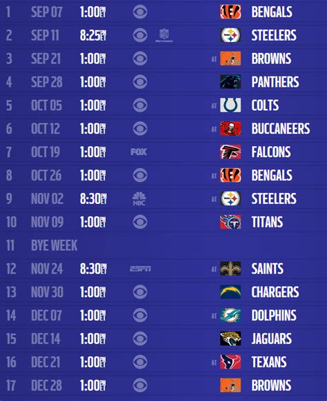 printable ravens schedule baltimore ravens 2014 schedule released