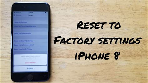 how to reset iphone 8 8 plus to factory settings