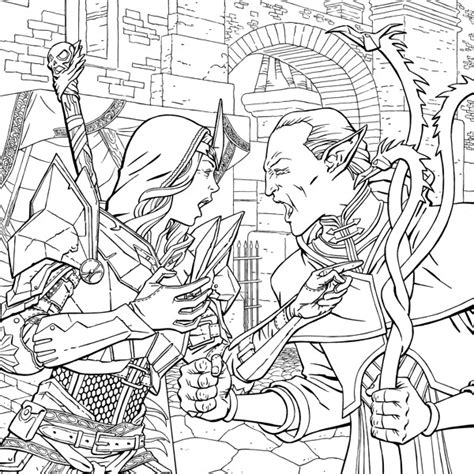 dragon age coloring page dragon age adult coloring book profile dark horse comics