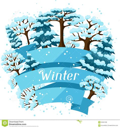 abstract vector winter tree design winter background design with abstract stylized stock vector image 60061038