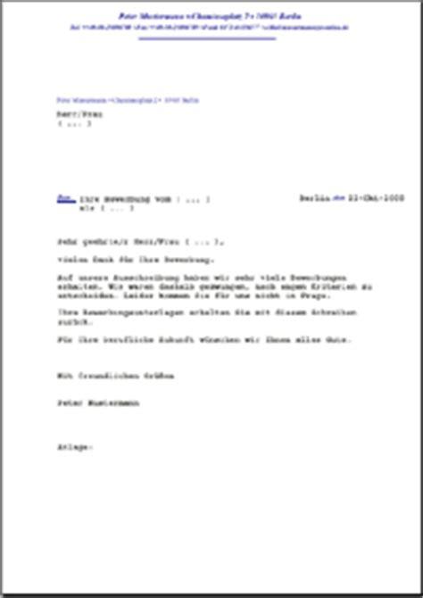 Musterbrief Anschreiben Angebot Dehoga Shop Absage Einer Bewerbung Auf Eine Stellenausschreibung Kaufen