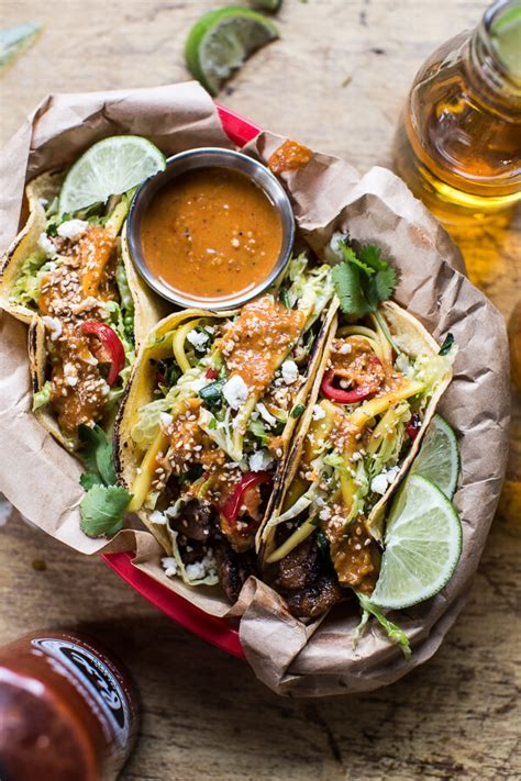 fish tacos picture of whiskey bulgogi bbq pork tacos with charred tomatillo sesame sauce