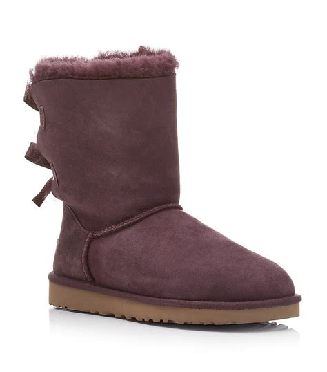 uggs boot ugg bailey bow boot in purple lyst