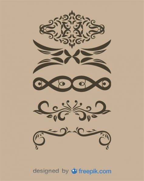 Decorative Text by Vintage Decorative Text Dividers Collection Vector Free