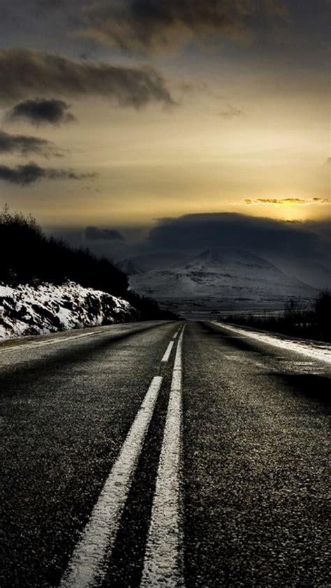 wallpaper black road 720x1280 black road winter scenic desktop pc and mac