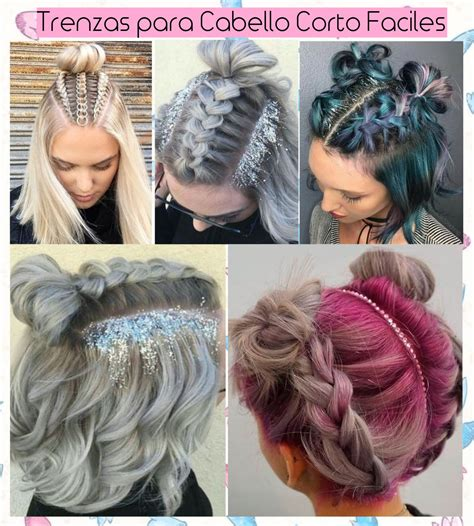 como hacer peinados para pelo corto trenzas para cabello corto paso a paso peinados lindos y
