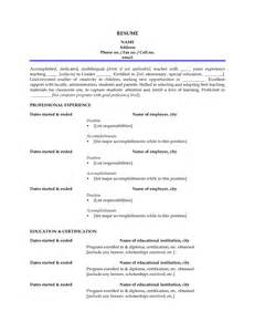 Sle Resume Objectives Caregiver Sle Resume For Csr With No Experience Cna Resume No