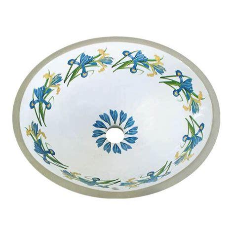 painted sinks blue iris painted sink