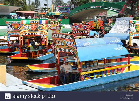 boats xochimilco boats trajineras xochimilco mexico city mexico north