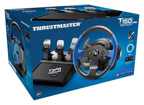 volante ps4 thrustmaster t150 pro feedback volant de course