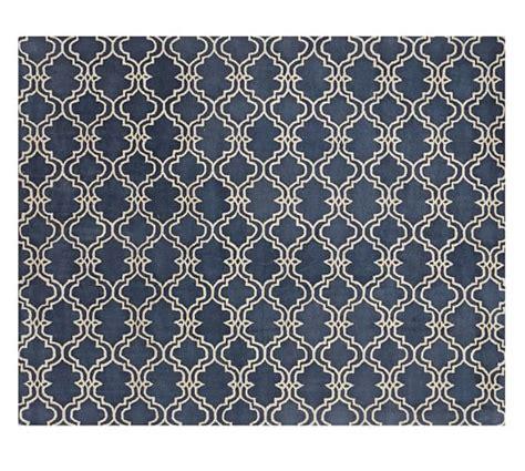 Pottery Barn Blue Rug Scroll Tile Rug Indigo Blue Pottery Barn