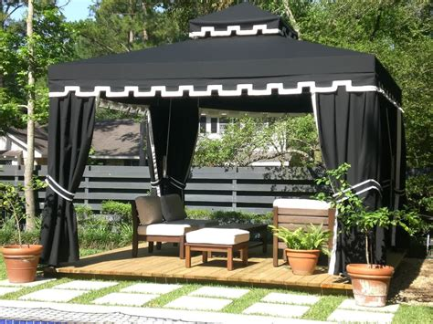 Lawn Garden Outdoor Gazebo Designs Backyard Patio Landscaping Ideas Wooden And