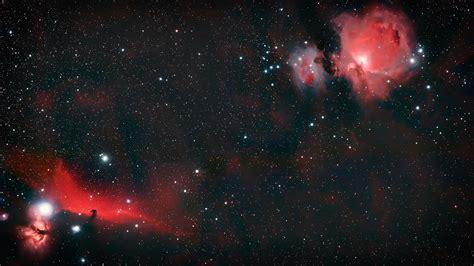 fonds decran univers etoile galaxie rouge  uhd