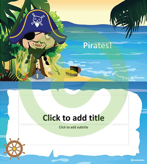 International Talk Like A Pirate Day Teaching Resources Teach Starter Pirate Powerpoint Template