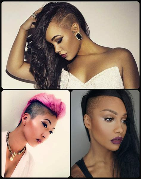 black women with shaved haircuts and color one side shaved hairstyles would you dare male models