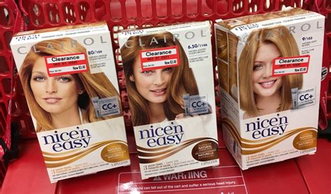 clairol nice n easy hair color only 2 50 at walgreens clairol nice n easy hair color all things target