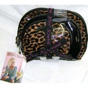 Betseyville Betsey Johnsons Pop Rock Glitteratti Cosmetic Bag by Betsey Johnson Betseyville Sequin Cheetah Weekender Bag