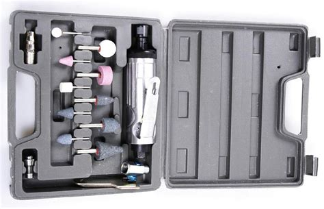 Bor Fleksibel air die bor kompresor angin 1 4 rotary air compressor tool kit set 22000rpm silver