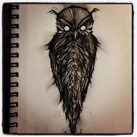 evil owl tattoo owl aaron kraten inky owl owl drawings