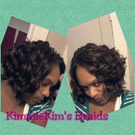 short ocean wave hairstyles crochet kima ocean wave cut into a bob like style