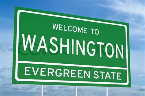 washington state concept  road sign