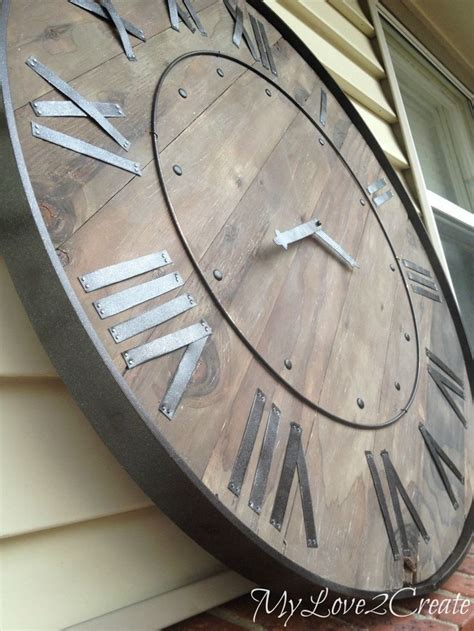 best made wall clock 25 best ideas about large wall clocks on pinterest big