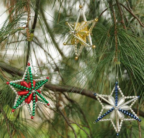 3d bohemian star how to make glass christmas ornaments