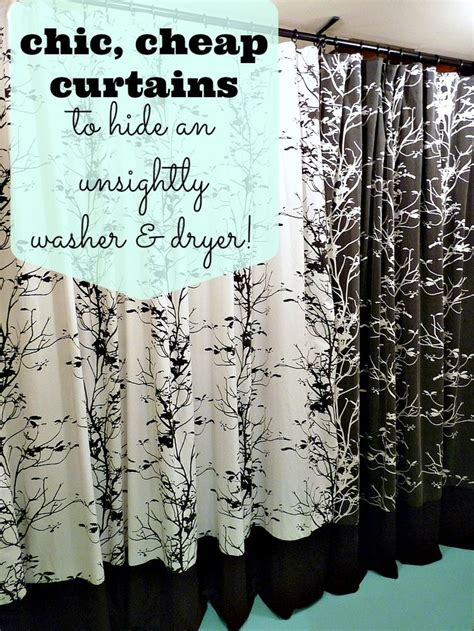 curtains to hide washer and dryer dans le townhouse basement update easy solution for