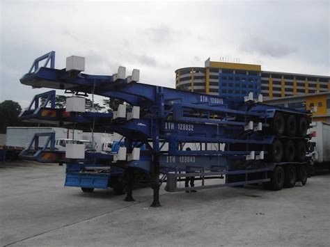 used 40ft skeletal trailers singapore trading company