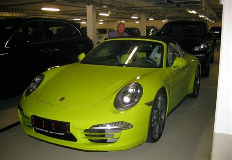 porsche targa green porsche 911 targa 4s spotted in lime green