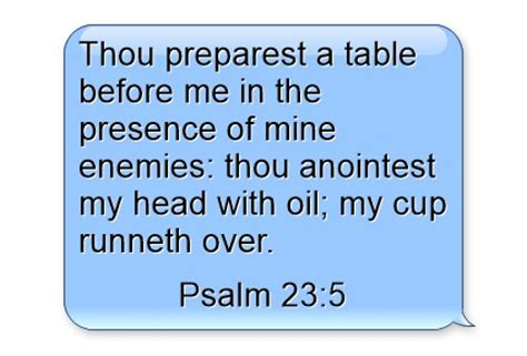 Thou Preparest A Table by Cup Runneth Bible Verse Meaning And Study