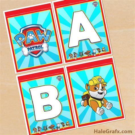 free printable baseball alphabet banner pack free printable paw patrol alphabet banner pack