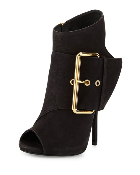 high heel peep toe booties giuseppe zanotti leather peep toe high heel bootie in