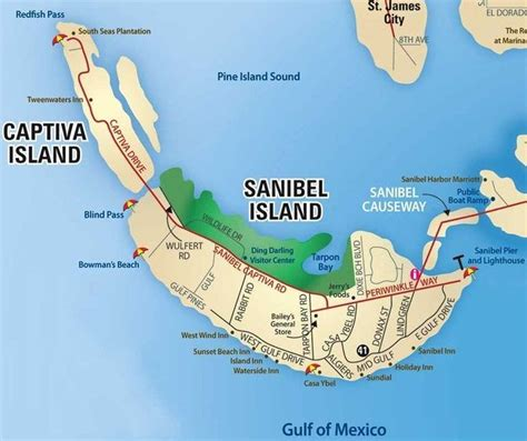 map of the islands and florida sanibel island fl the world s best shelling beaches